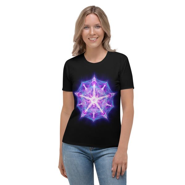 Women's Stretch T-shirt Mandala : Accepting We Are Worthy And Deserving Of Love