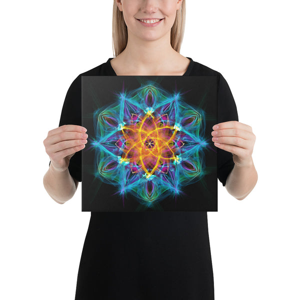 Canvas Mandala : Healing Light From Within