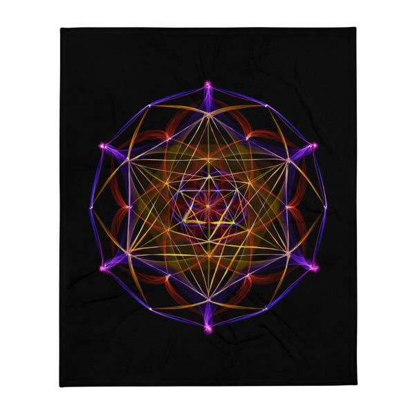Throw Blanket Mandala : Merkaba