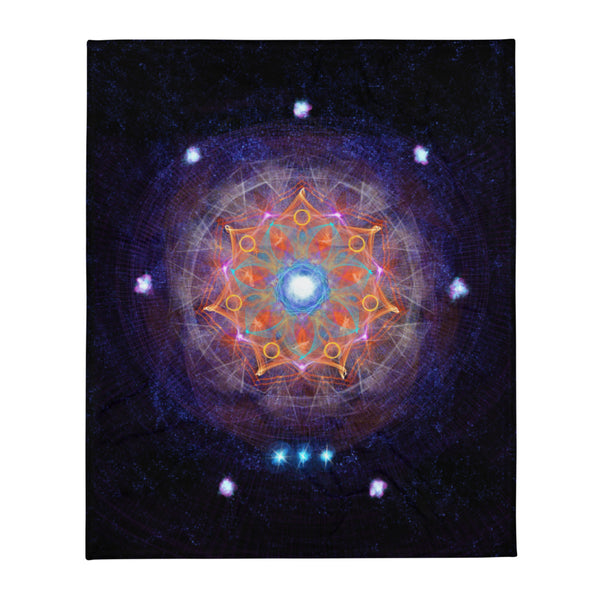 Throw Blanket Mandala : Full Moon Release