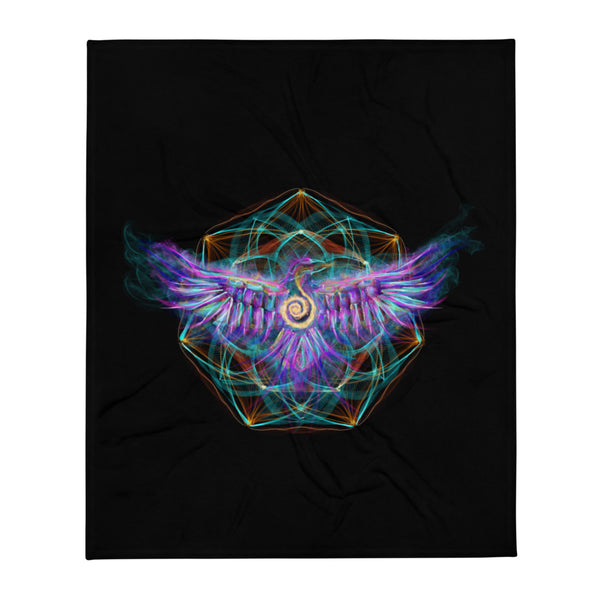 Throw Blanket Mandala : Follow Your Inner Guidance