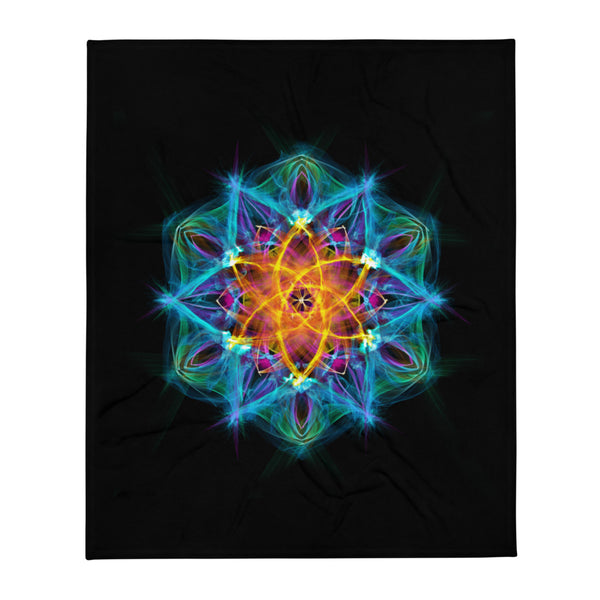 Throw Blanket Mandala : Healing Light From Within