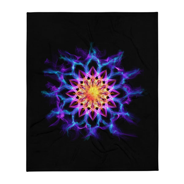 Throw Blanket Mandala : Inner Growth