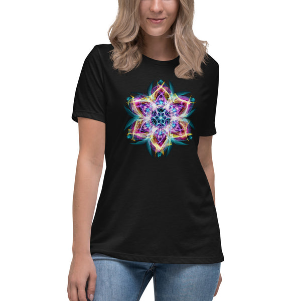 Women's Relaxed T-Shirt Mandala : Flower Of Life