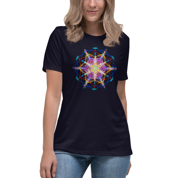 Women's Relaxed T-Shirt Mandala : Hope