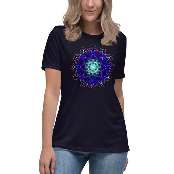 Women's Relaxed T-Shirt Mandala : Dedication