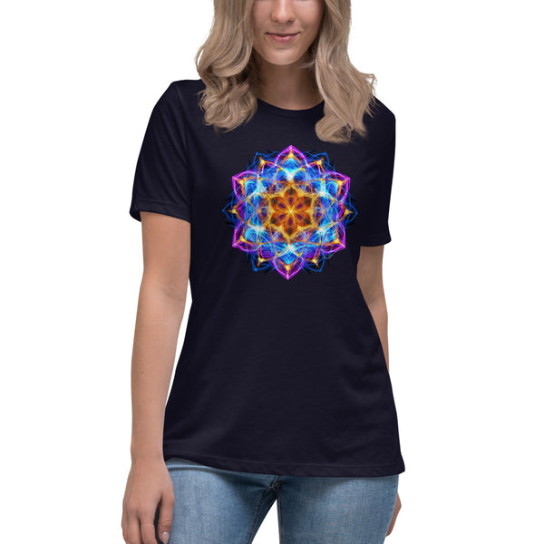 Women's Relaxed T-Shirt Mandala : New Beginnings