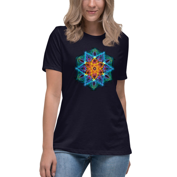 Women's Relaxed T-Shirt Mandala : Healing Light From Within
