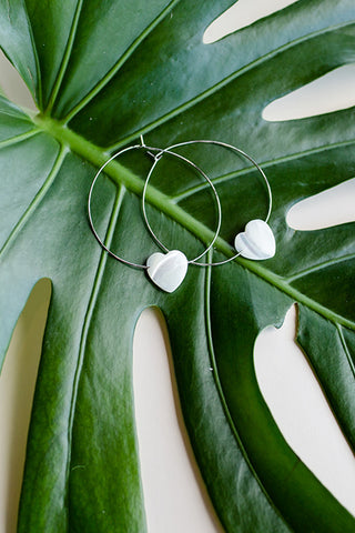 PEARL HEART EARRINGS