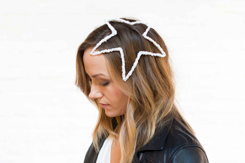 star shape headpiece with sequins