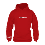 ColorXBlind Hoodie (White on Red) w/ Back Detail
