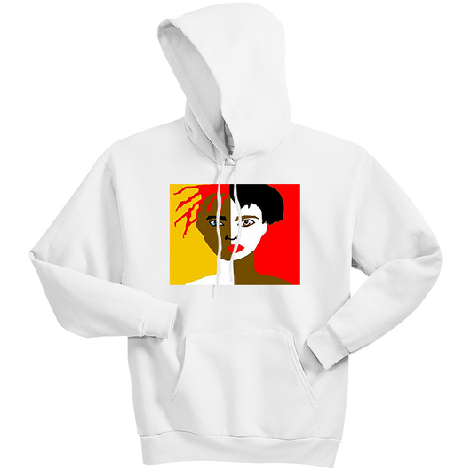 Face Hoodie (White)