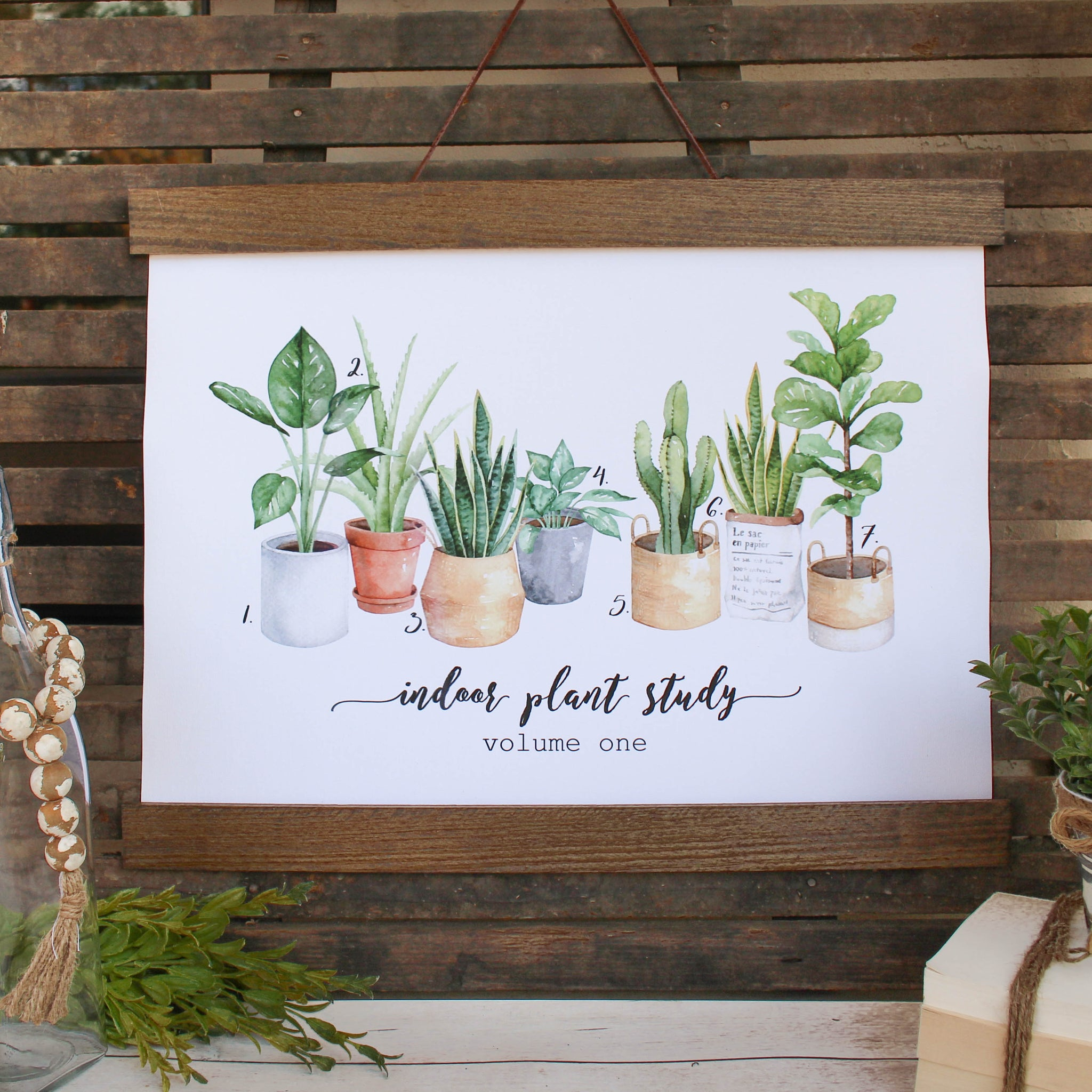 Plant Canvas Hanging