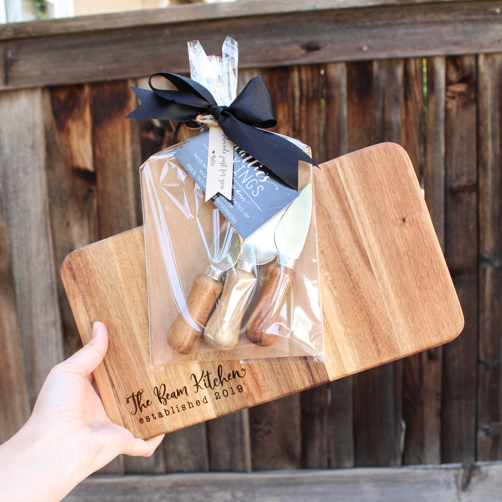 Cheese Board + Knife Set // Personalized