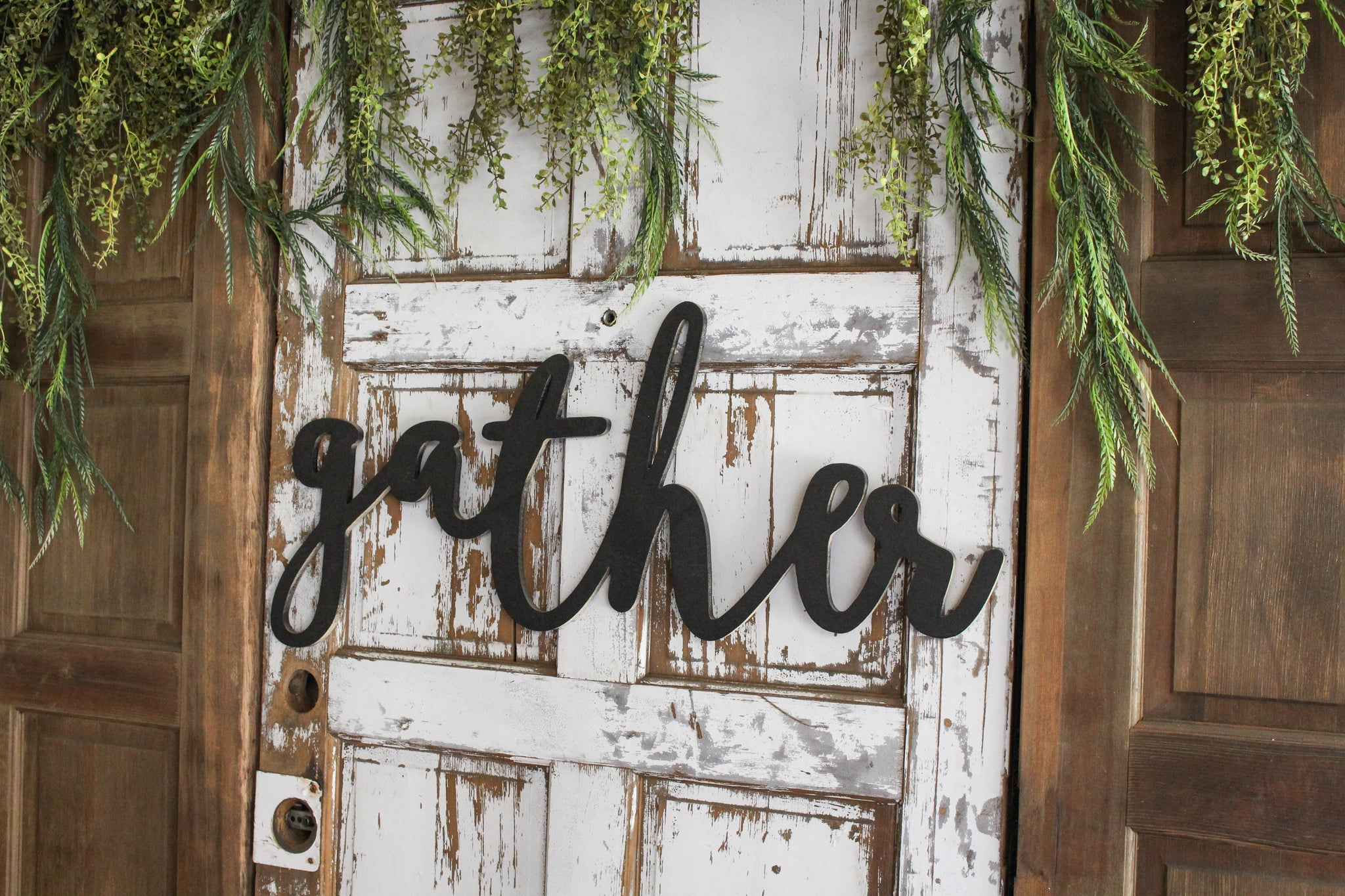 Large Gather Word Cutout