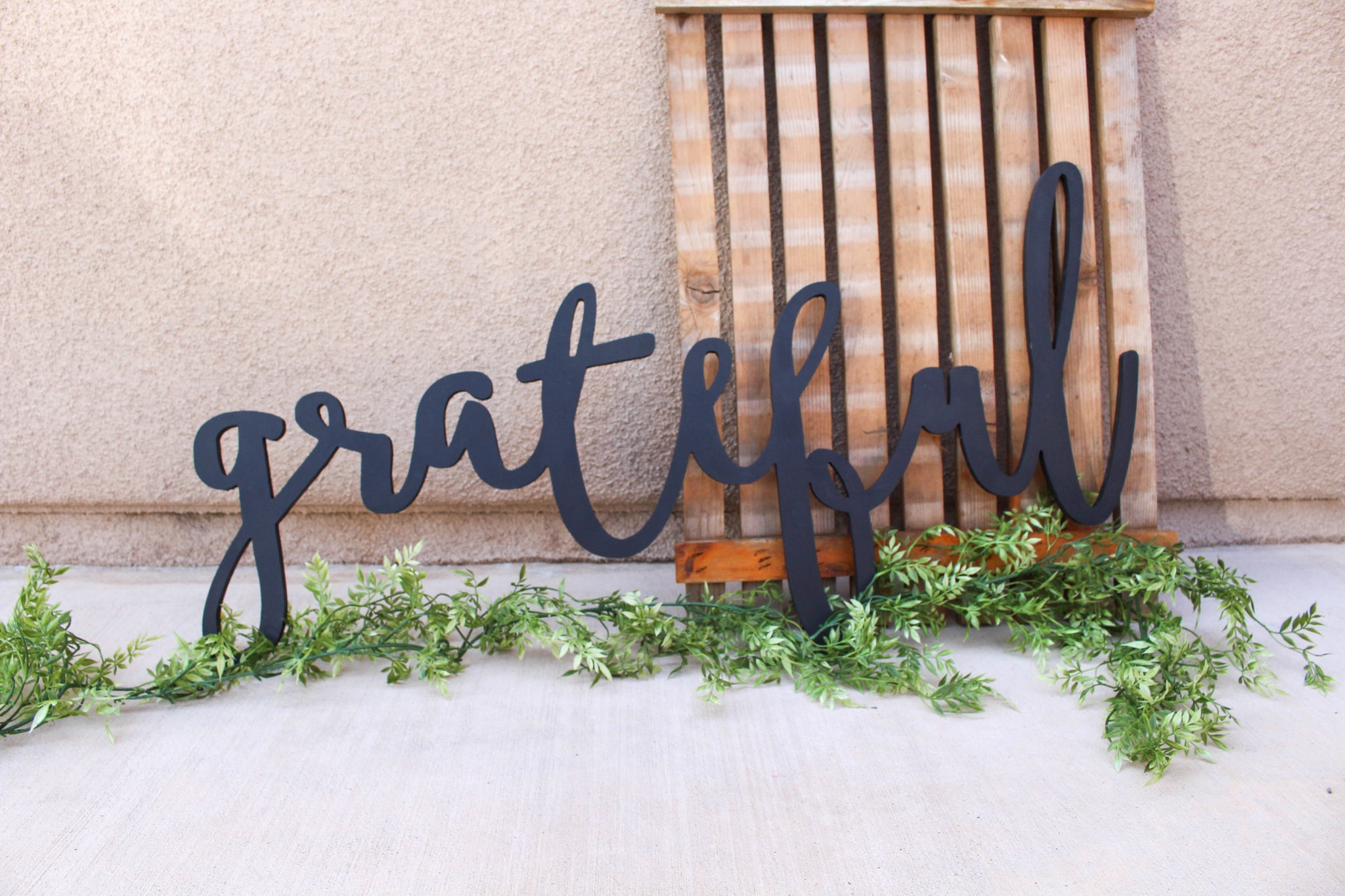 Large Grateful Word Cutout