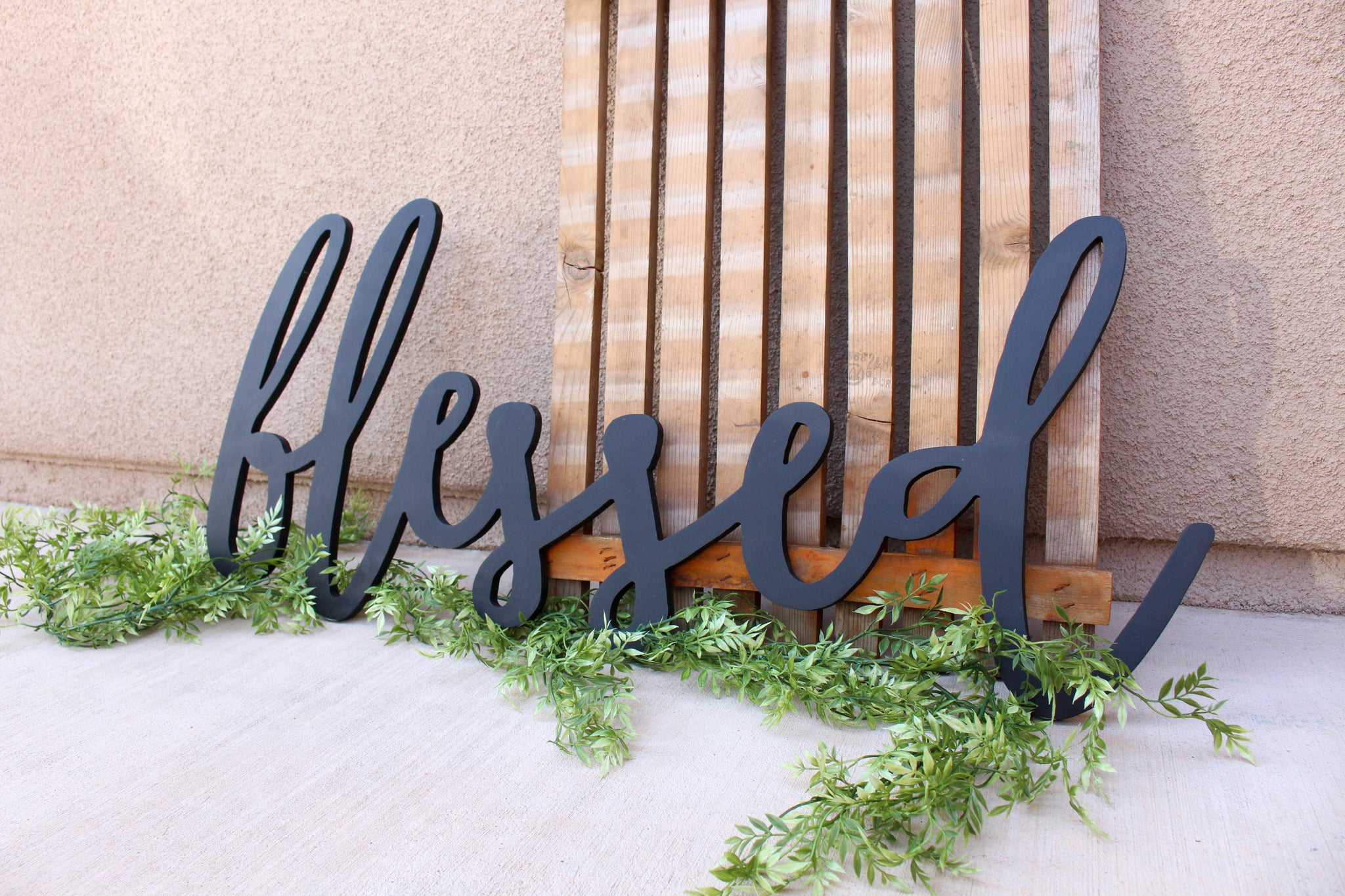 Large Blessed Word Cutout