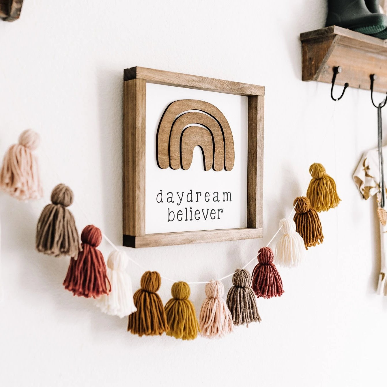 Daydream Believer Wood Sign // FREE SHIPPING