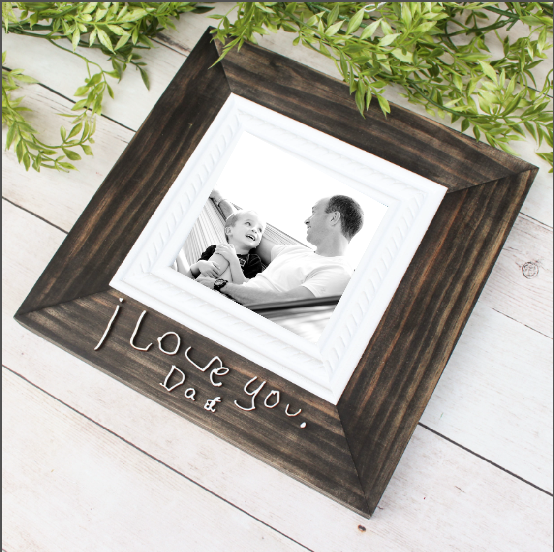 Handwriting Picture Frame // 4x4 Photo Size // Custom Handwriting // FREE SHIPPING
