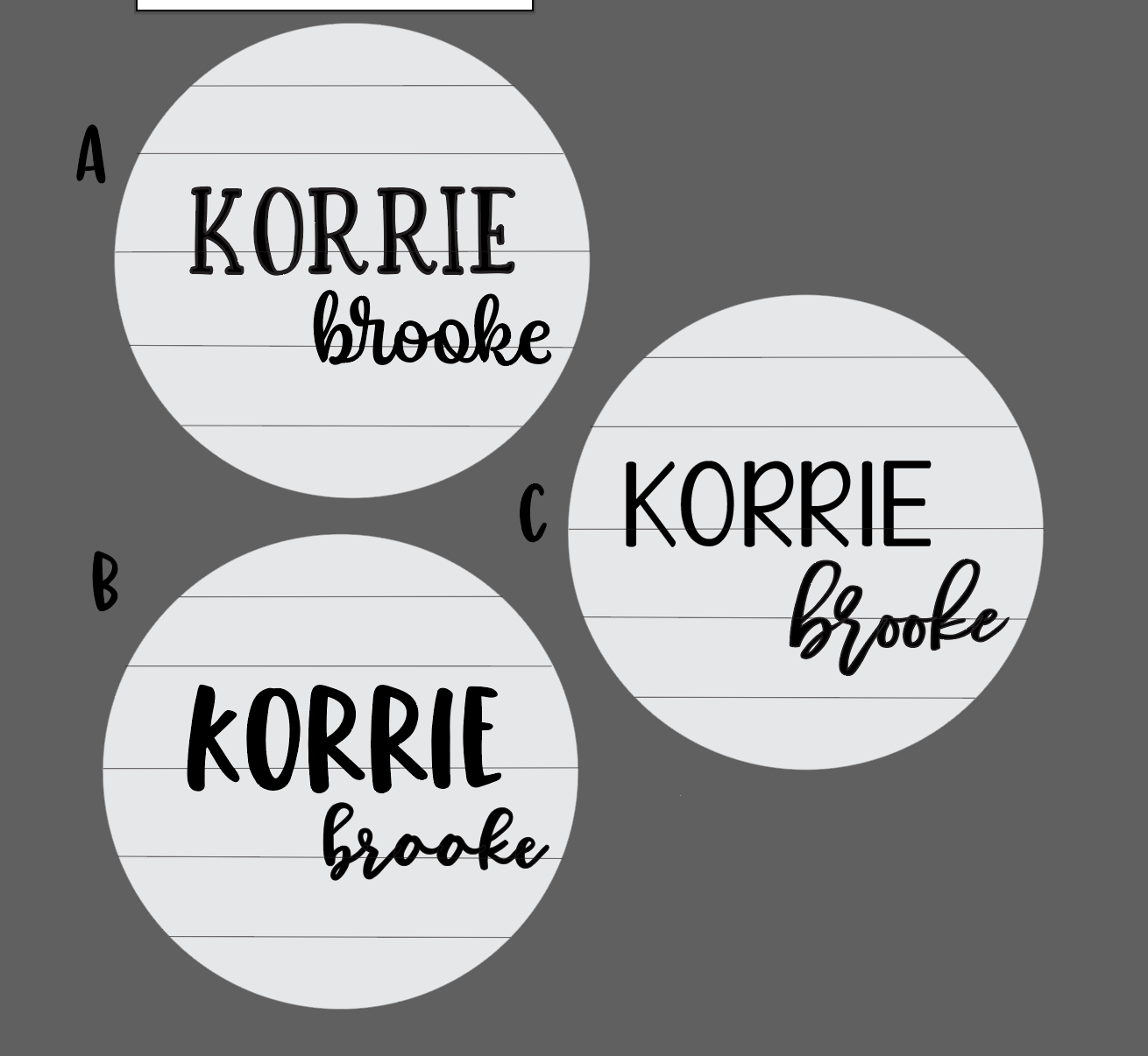 Custom Name Cutouts