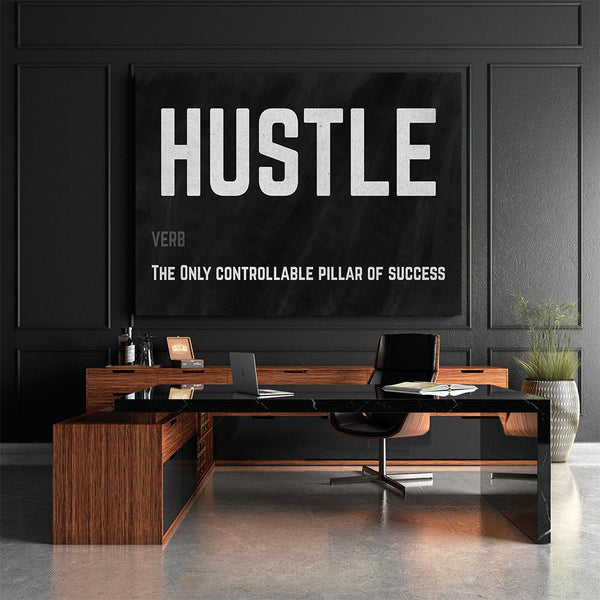 Hustle Canvas Art for work and offices