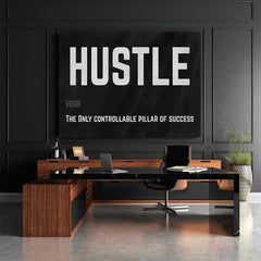 HUstle canvas wall art motivation artiful