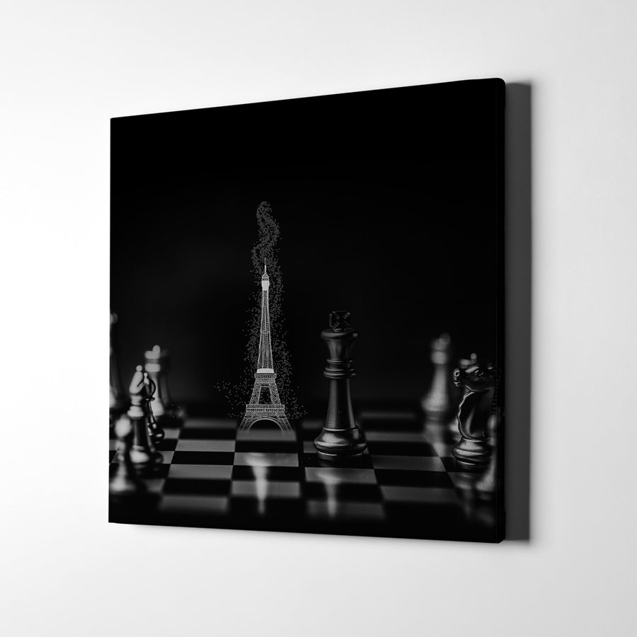 Artiful Chess Paris Canvas Wall Art - French Art - Artiful Art Store