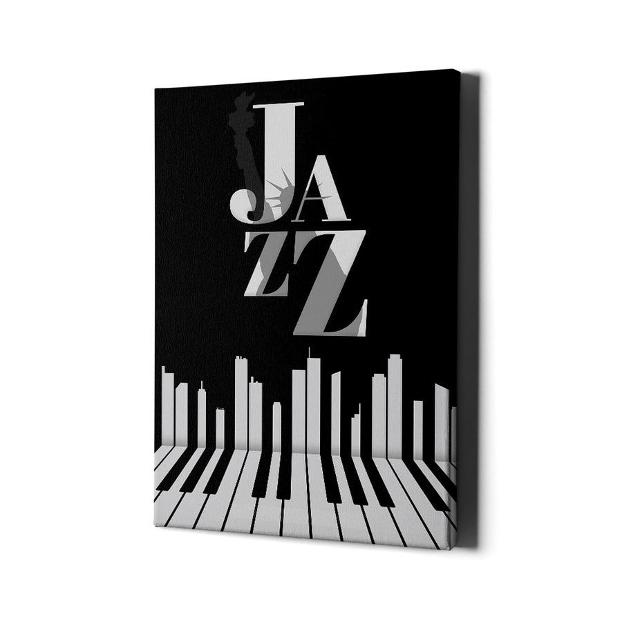 Artiful Jazz City New York Canvas Wall Art - Music Art Collection