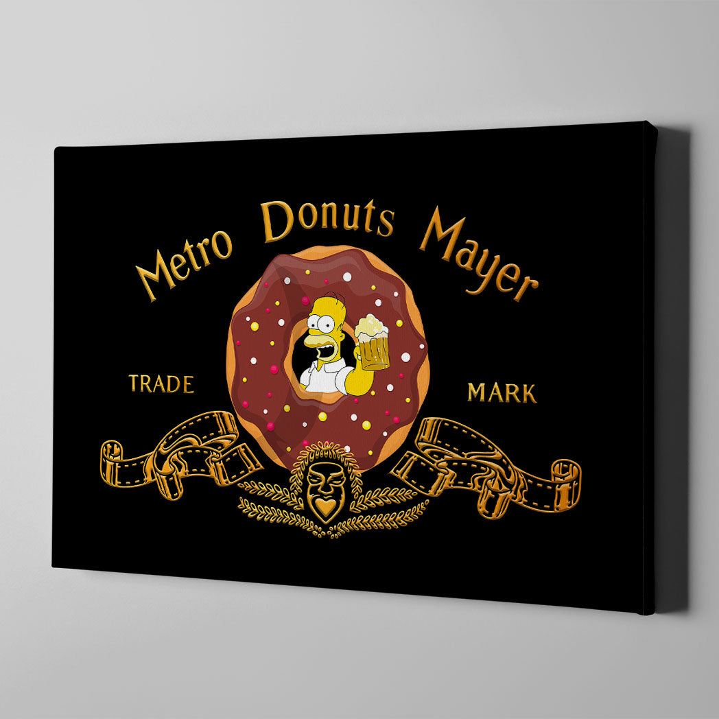 Metro Donuts Mayer Canvas Art - Artiful Iconic Art Collection