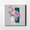 Artiful Abstract flamingo Canvas Wall Art