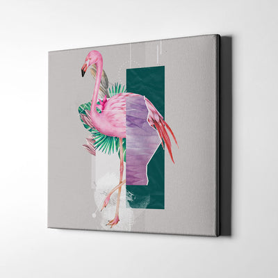 Artiful Abstract flamingo Canvas Wall Art - home decor