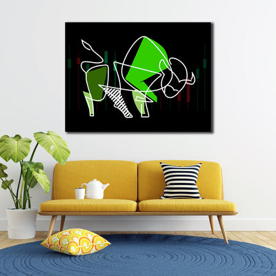Picasso Bull Market Canvas Wall Art - Artiful Financial Art Collection