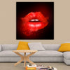 Artiful Red Lips Glow Canvas Art