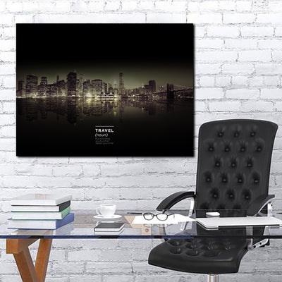 Artiful Travel Definition Canvas Wall Art - Art collection skyline
