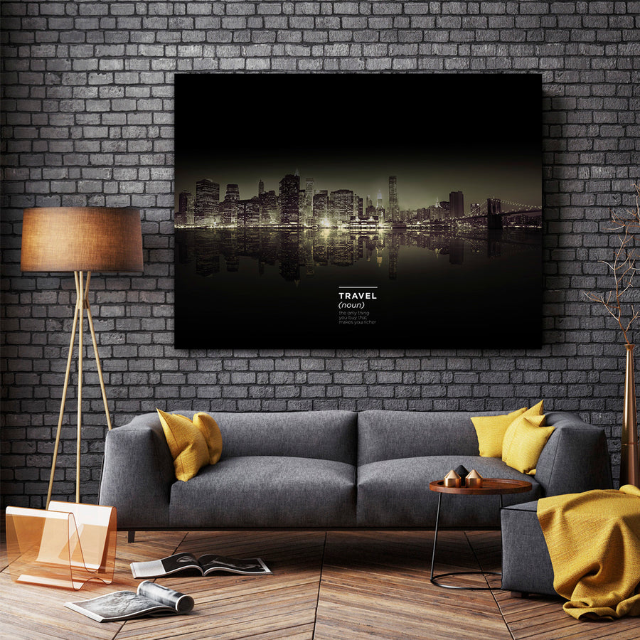 Artiful Travel Definition Canvas Wall Art - Art collection for every home and office