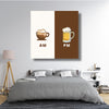 AM-PM Coffee & Beer Canvas Art - Artiful Coffe and beer Collection