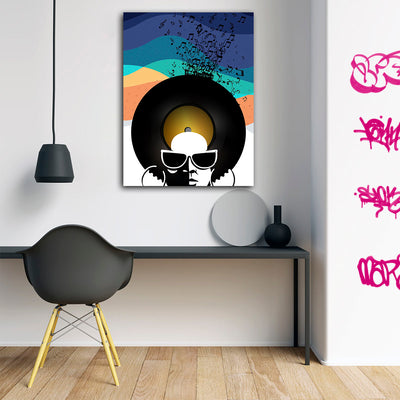 Artiful Studio 54 Disco Head Canvas Art - Iconic Art Collection