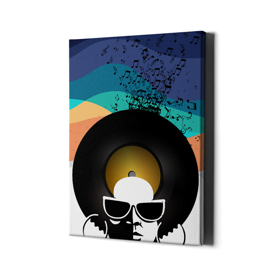 Artiful Studio 54 Disco Head Canvas Wall Art - Iconic Art Collection
