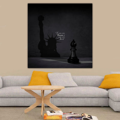 New York Shadow Quote Canvas Art - Artiful Art Store - Manhattan Canvas