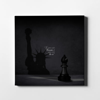 New York Shadow Quote Canvas Art - Artiful Art Store - New York Canvas