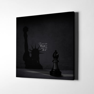 New York Shadow Quote Canvas Wall Art - Artiful Art Store - New York Canvas