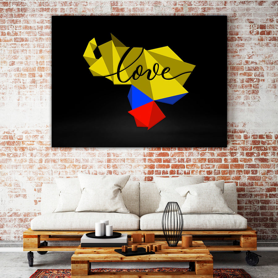 Artiful Love Venezuela Canvas Wall Art