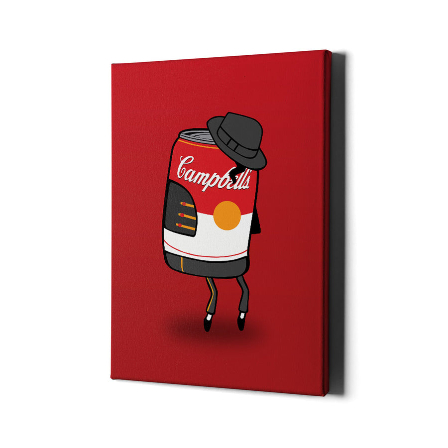 Artiful Campbell's Soup and Michael Jackson Iconic Canvas Art