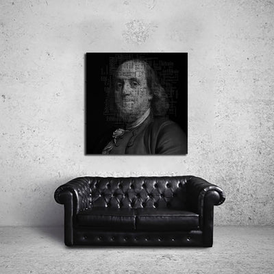 Artiful Benjamin Franklin Cryptocurrency Canvas Art