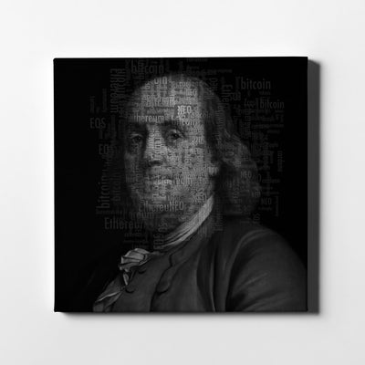 Artiful Benjamin Franklin Cryptocurrency Canvas Wall Art