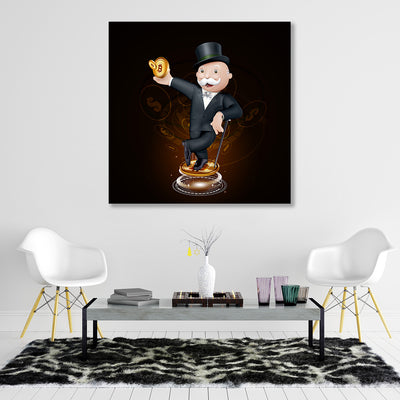 Crypto Monopoly Canvas Wall Art - Artiful Art Collection