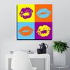 Pop Art Lips Canvas Wall Art - Artiful Lips Collection - Warhol style