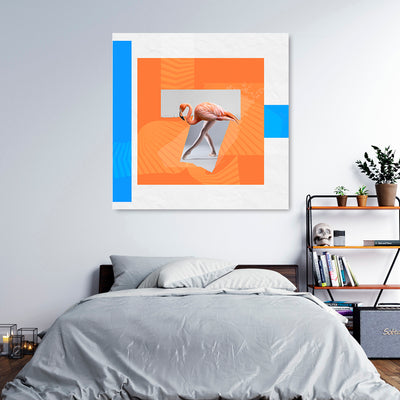 Artiful Ballet flamingo II Canvas Wall Art - Abstract Collection