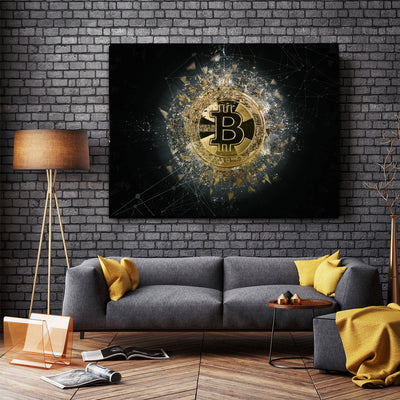Bitcoin Vires In Numeris Canvas Art - Artiful Crypto Art Collection