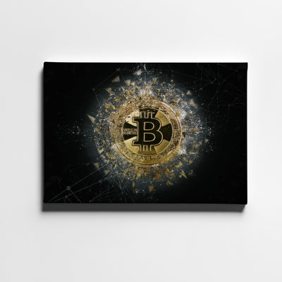 Bitcoin Vires In Numeris Canvas Wall Art - Artiful Crypto Art Collection